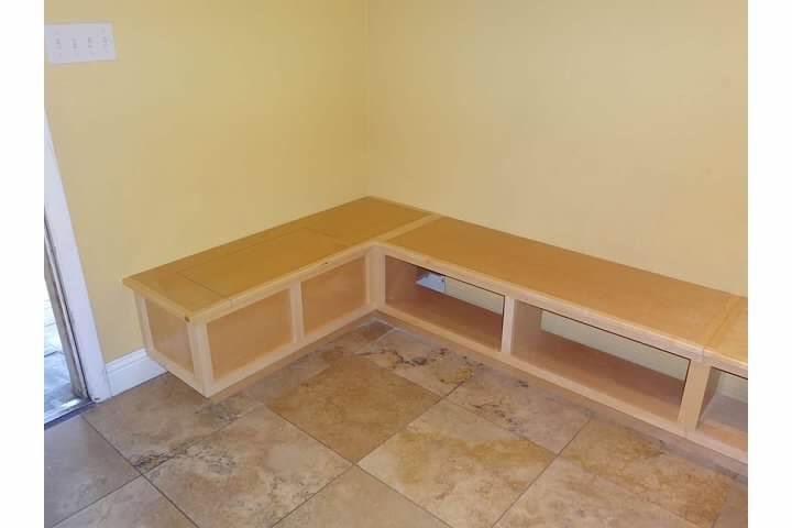 Custom Built Breakfast Nook Bench - Starwood Renovation