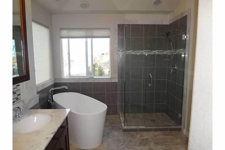 denver modern bathroom remodel - starwood renovation
