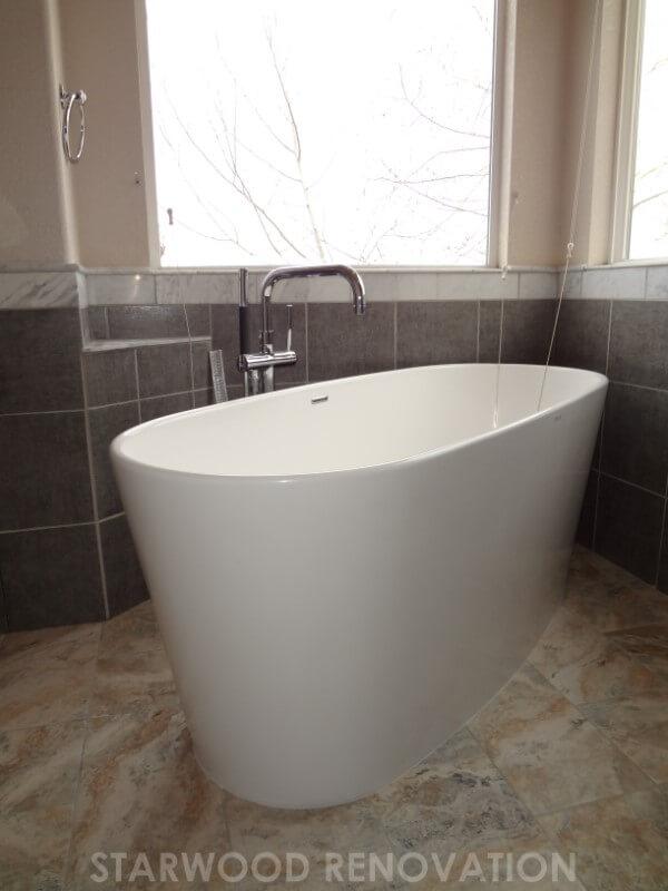 Modern bathroom remodel starwood renovation for Bath remodel denver