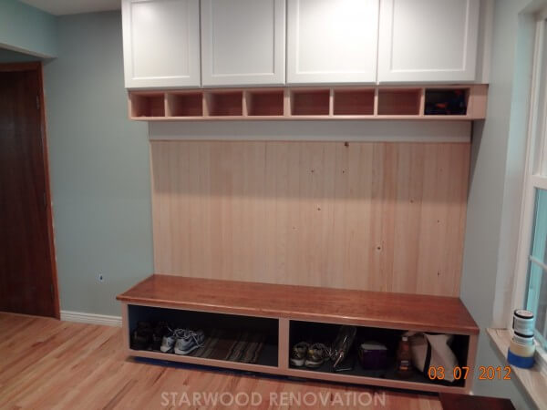 mudroom storage units top my new organized mudroom with