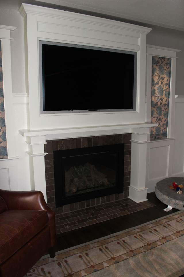 Denver Whole House Remodel Custom Fireplace Woodwork