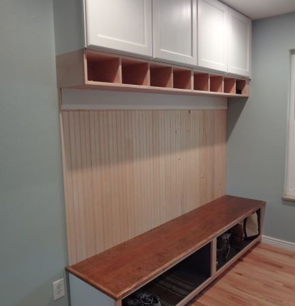 Mudroom Bench Storage Center